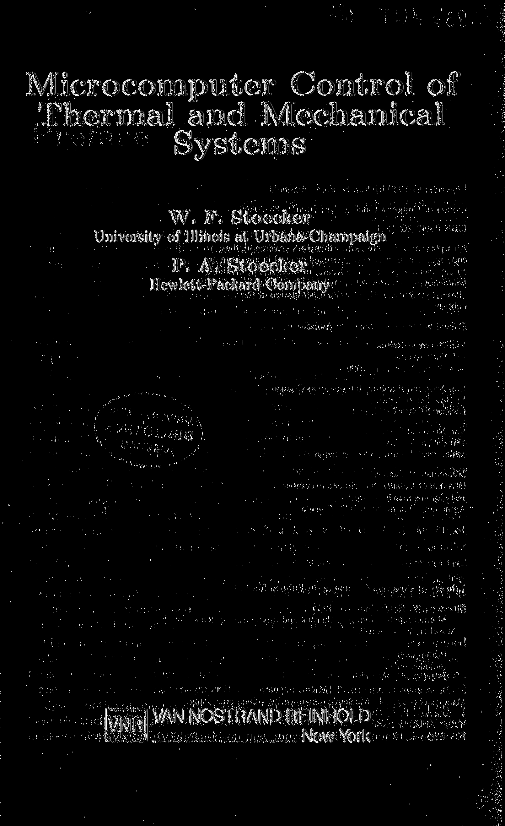 Microcomputer Control of Thermal and Mechanical Systems W. F.