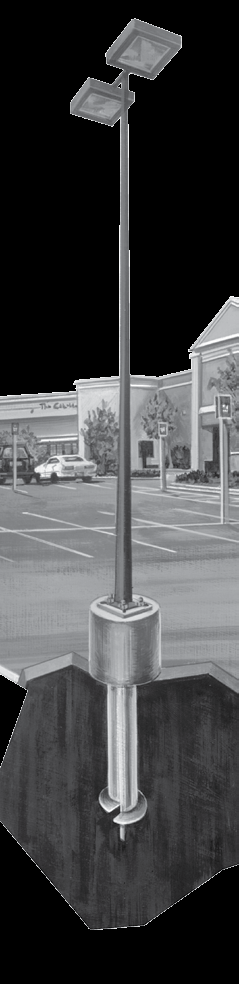 "FOUNDATIONS FOR LIGHTING AND SIGNAGE (FLS) BOLLARD FOUNDATIONS Length Bolt Circle Pkg Qty. Wt (lb.) T112-0620 3' 4"" - 8"" 1 27 4"" PARKING, AREA, & SITE LIGHTING FOUNDATIONS Length Bolt Circle Pkg Qty."