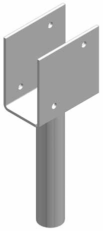 Timber Support Brackets These brackets are used to connect timbers or girder beams to helical piles. The split bracket design is more universal because beam thickness or tolerance is not a problem.