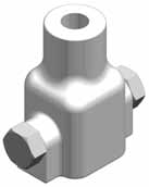 Square Shaft Threaded Bar Adapters (See Table 9 on Page 4 for Mechanical Limits) Threaded for Williams Form Bar SS Bar Adapters for SS125, SS1375, SS5, and SS150 Cast Square Bar Transitions 1 1 4""