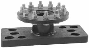 "C303-0139 connects direct to a Kelly bar adapter with (6) 1 2"" furnished bolts. C303-0684 includes (12) 5 8"" bolts. Catalog Bolt Circle, Holes Approx."
