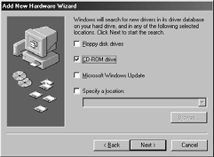 4. Deselect the Floppy disk drives checkbox, select the CD-ROM drive checkbox, and