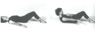 using inner thigh muscles throughout exercise (squeeze inner thighs together): Curve up from floor only