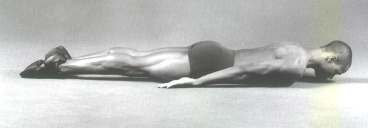 10. Back strengthening #2 {5 building to 10} Lying in front (place cushion under abdomen to support