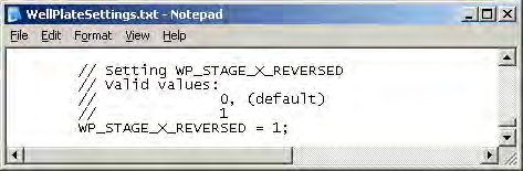 Stage Direction WP_STAGE_X_REVERSED can be set to 0 (false) or 1 (true).