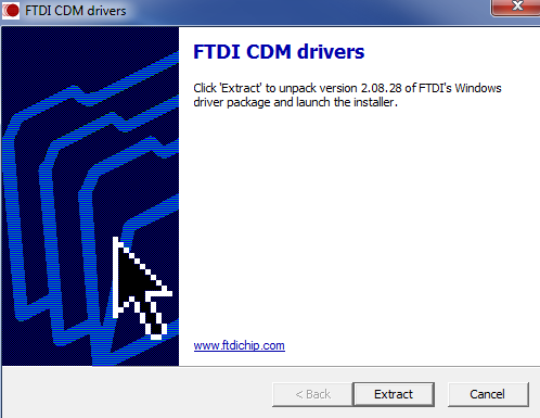 i. Extract the files by clicking extract on the Extract button as shown in the red box below. j.