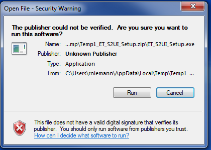 1. Connect to Valve a. Download the S2-025-U-04 USB software found on Enfield Technologies website: http://enfieldtech.com/products/positioning-system/ b. After the software package ET_S2UI_Setup.