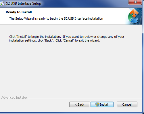 g. Click the Install button