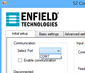 f. Once there, click on the Select Port drop