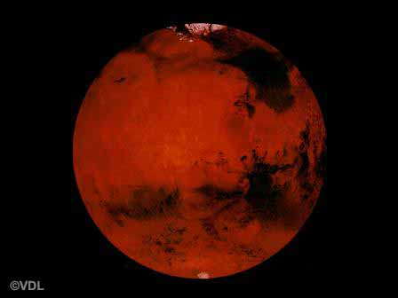 causes the motion within its molten core that produces a strong magnetic field. Mars, the fourth planet, is dry and barren.