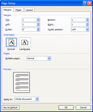 Margins Accessible Communications The most accessible page size is 8.5 x 11 with one-inch (2.54 cm) margins on each side. This promotes readability and is most convenient for people using magnifiers.