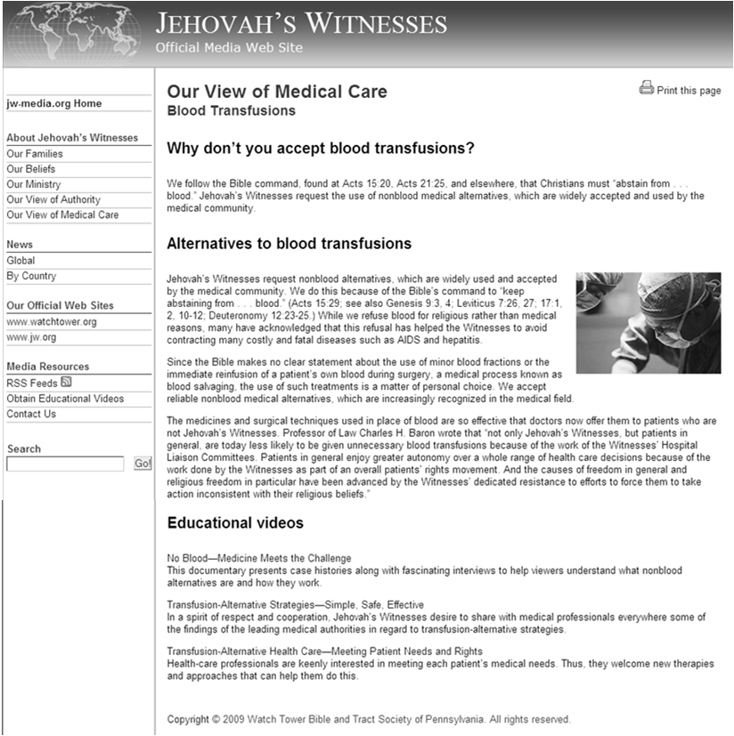 Recent UIHC Jehovah s Witnesses Patient 30 y/o female, C/S x 5, chronic dental decay, chronic uterine blood loss due to fibroids, per