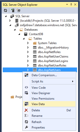 Create an ASP NET MVC app with auth and SQL DB and deploy to Azure