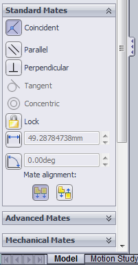 in the solidworks is considered as a fix object so that the remaining part assemble properly with this base part.
