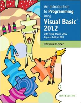 Elementary Programming in Visual Basic CS 142 - Fall 2014 Credits: 3 hours Instructor: David Furcy Office: Halsey 221 Email: furcyd@uwosh.