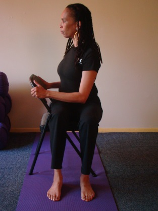 Exhale and fold forward over your legs. Take three complete breaths. Release your right leg and repeat the practice on the left side.