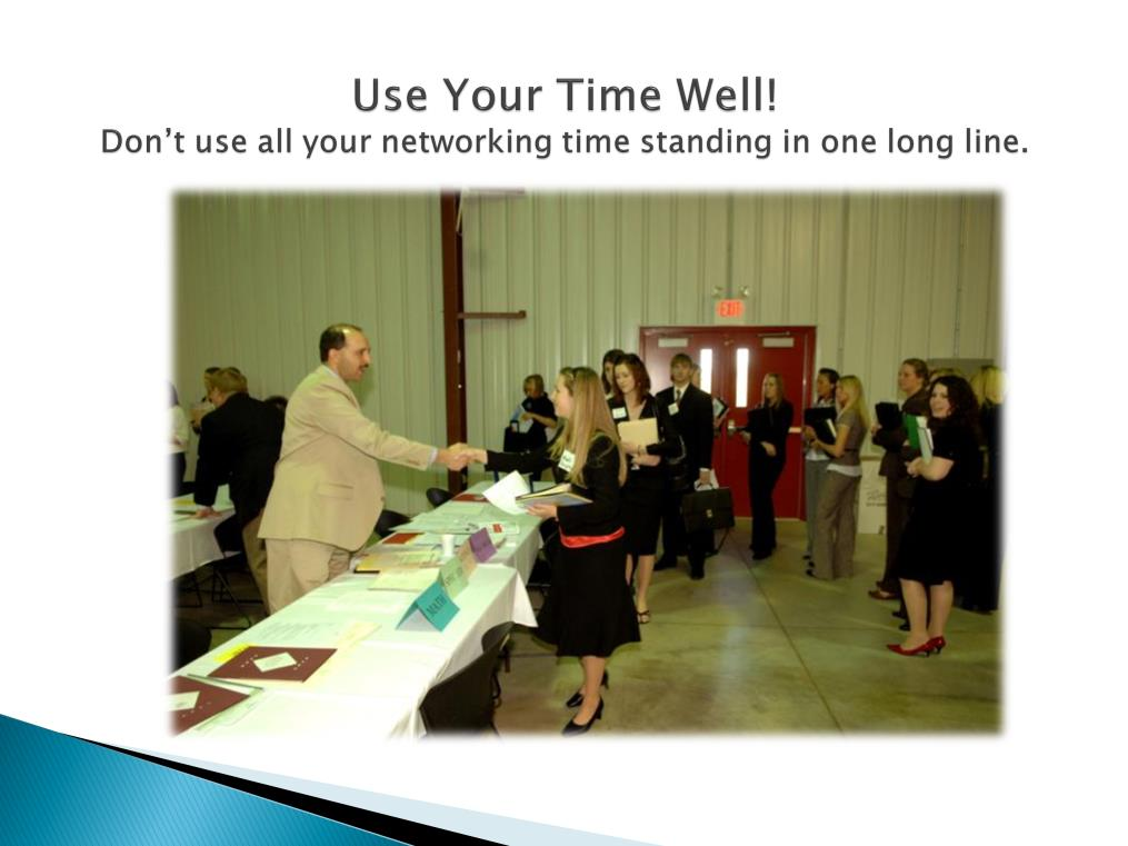 Strategy is important during the Open Networking sessions. It is possible to spend the entire time standing in one long line if you aren t careful.