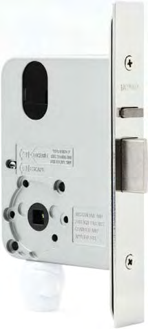 3572 Vestibule Locks These locks have various latching functions which can be operated by key or handle outside and by turnknob, key or handle inside.