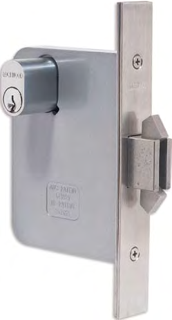 3573 Sliding Door Deadlocks Various deadlocking functions operated generally by key outside and by turnknob or key inside. Locked by key or turnknob when door is closed.