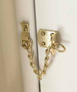 "dependent on the door thickness Matching Door Accessories Brass Door Chain Brass Coat Hook H127mm x W33mm GIR0364 Brass Cabin Hook 4""/H35mm x L110mm LAL0116 Brass Projection Door Stop 2 1 /2""/H41mm x"