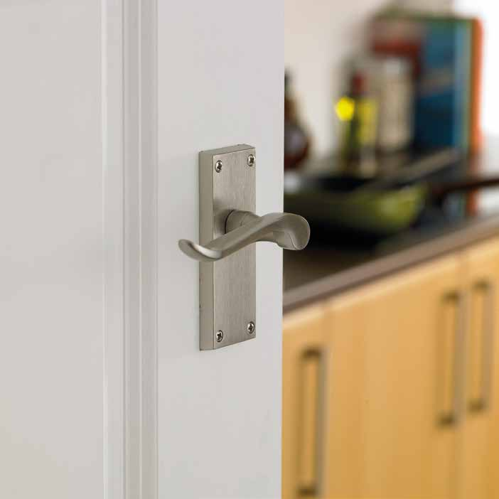 Chrissi Satin Nickel Latch DFU0045 H115mm x W40mm x D10mm Suitable for use with a tubular mortice latch (LAL0075/76/77/78/55/57/41) Lock H151mm x W42mm x D8mm Suitable for use with a 3 lever sashlock