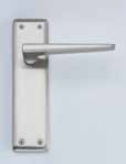 Lugano Satin Nickel Latch DFU0722 H160mm x W40mm x D9mm Suitable for use with a tubular mortice latch