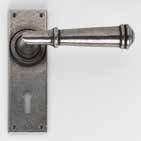 Durham Solid Pewter Latch UK DFU0740 H150mm x W50mm x D7mm Suitable for use with a tubular mortice latch (LAL0075/76/77/78/55/57/41) Lock UK DFU0741 H150mm x W50mm x D7mm Suitable for use with a 3