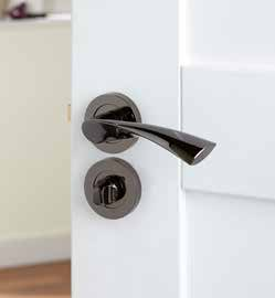 Pewter Effect Scroll Matching External Door Furniture Rose DFU0755 H50mm x W50mm x D10mm Suitable for use with a tubular mortice latch (LAL0075/76/77/78/55/57/41) Bathroom Turn DFU0756