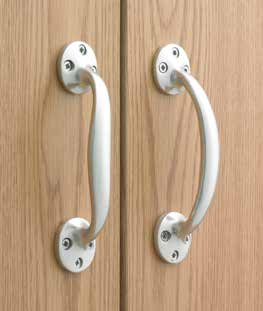 "Matching External Door Furniture Aluminium Letterplate 10"" x 3""/ L252mm x H80mm DFU0239 Aluminium Euro Profile Round Escutcheon D50mm DFU0203 Matching Door Accessories Aluminium Bow Pull Handle 6"""