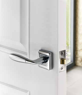 Rose Handles & Matching Bathroom Turns Adina Polished/Satin DFU0458 H47mm x W47mm x D10mm Finish: Chrome Plated/Satin Stainless Steel Suitable for use with a tubular mortice latch