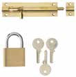 ERA Brass Padlock SCF0204 50mm Black Safety Hasp and Staple