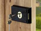 Deadlocks are often used in conjunction with a nightlatch, to increase security.