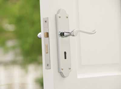 The locks have 100 key patterns - at least 100 different key patterns must be made before any key pattern can be used again. The BS approved 5 lever locks are the most secure option.