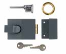 deadlocked from the  LAL0500 Economy Brass Cylinder Nightlatch 72