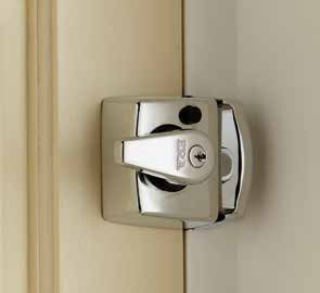 Traditional Nightlatch Cylinders Double Locking Nightlatches Automatically deadlock when the door is closed.