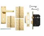 Victorian Brass Lock & Latch Packs Packs include door