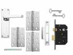 Brass Latch Pack LAL1130 Brass 3 Lever Lock Pack