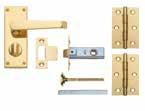 Lock & Latch Packs Packs include door  Chrome Latch