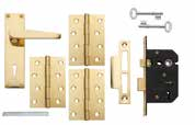 locks/latches, hinges and fixings.