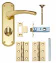 Garda Brass Lock & Latch Packs Packs include door
