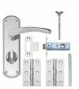 Brass Latch Pack LAL2020 Brass 3 Lever Lock Pack