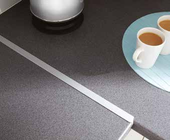 Worktop Accessories Joint Strips Aluminium 28mm (8mm radius) 38mm (6mm/8mm radius) 38mm (3mm radius) Black 28mm (6mm/8mm radius) 38mm (3mm radius) 38mm (6mm/8mm radius) Chrome Effect 38mm (6mm/8mm