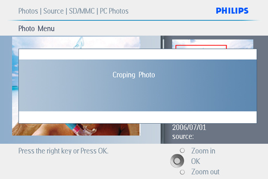 2 Move Photos Photos can only be moved between albums created by PhotoFrame on internal memory or external memory card.