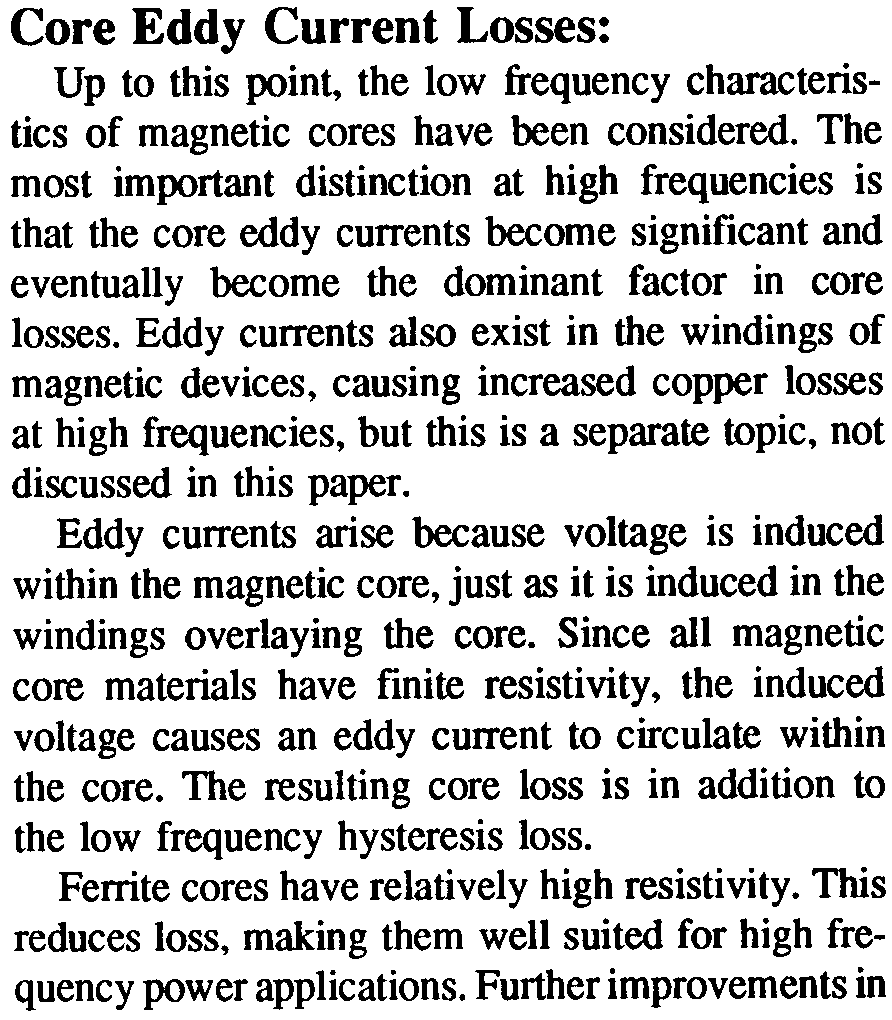 An Electrical Circuit Model For Magnetic Cores Pdf Of Inductor With Ungapped Core Metallic Constituents Etc Shapes Which Have Sharp Comers Will Paradoxically Contribute To