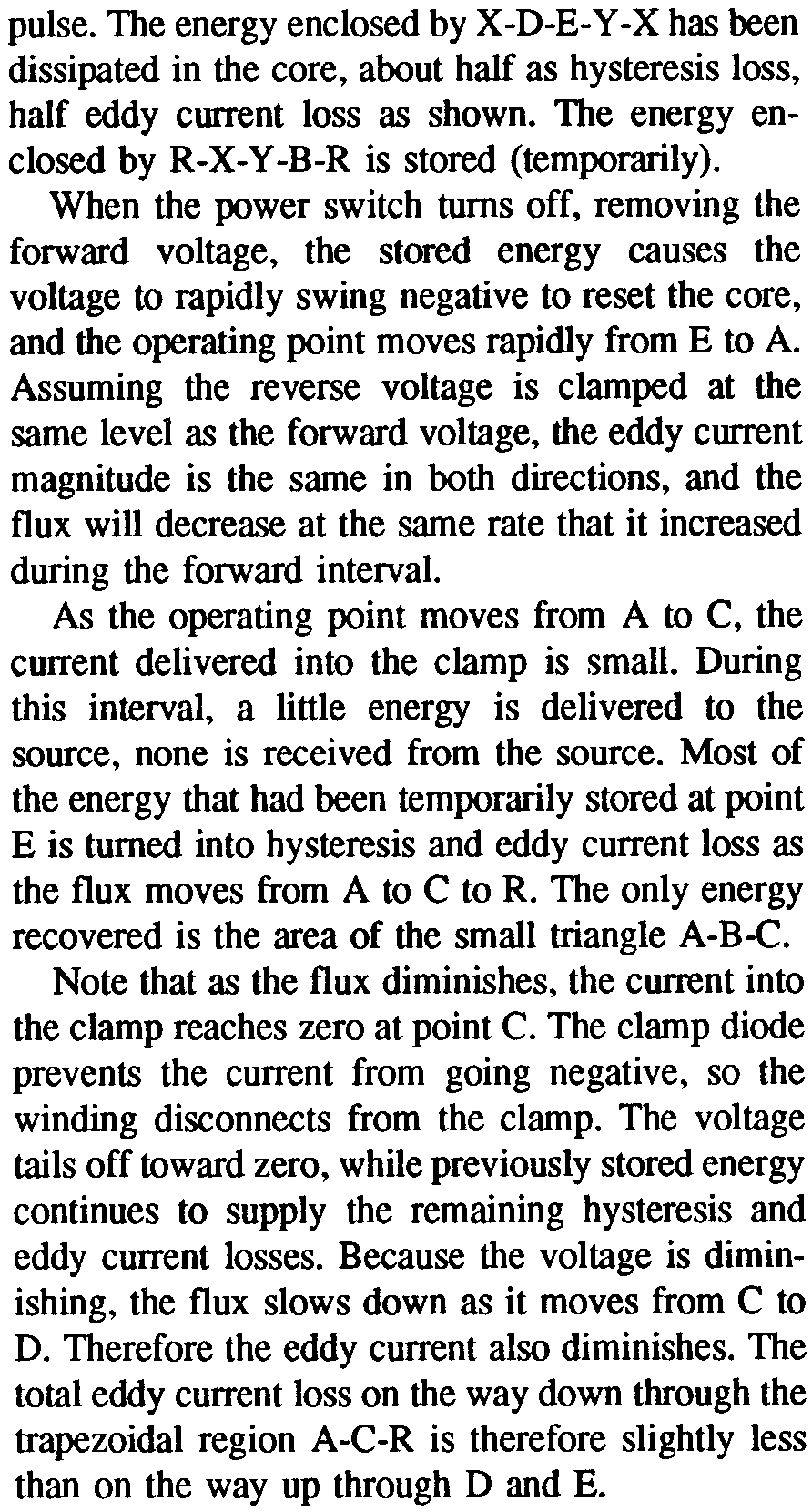 An Electrical Circuit Model For Magnetic Cores Pdf Of Inductor With Ungapped Core When The Power Switch Turns Off Removing Forward Voltage Stored Energy Causes