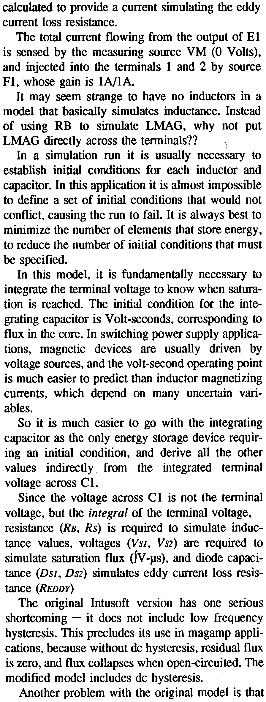 An Electrical Circuit Model For Magnetic Cores Pdf Of Inductor With Ungapped Core In This Application It Is Almost Impossible To Define A Set Initial Conditions That Would