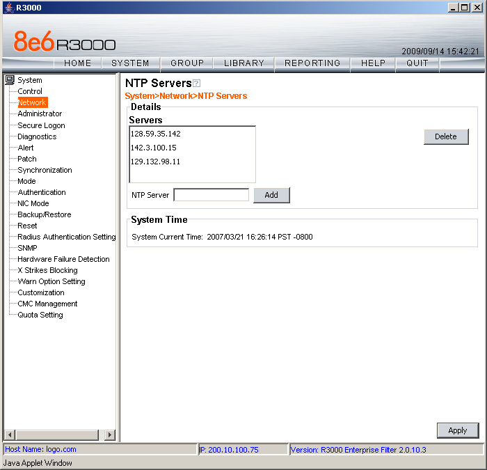 Network NTP Servers From The Navigation Panel Click And Choose