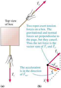 Newton s Second Law When more than one force is acting on an object, the object accelerates in the direction of the net force vector. Slide 5-62 QuickCheck 5.