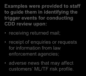 adverse news that may affect customers ML/TF risk profile.