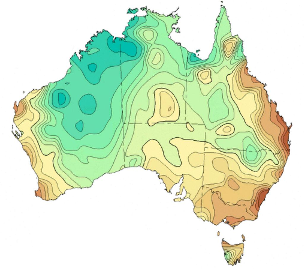 Rainfall decreased in south-west and south-east Australia, including all the major population centres, during the same period.